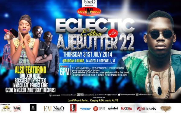 LOUDNPROUDLIVE Eclectic EDITION WITH THURSDAY 31st Julyv7