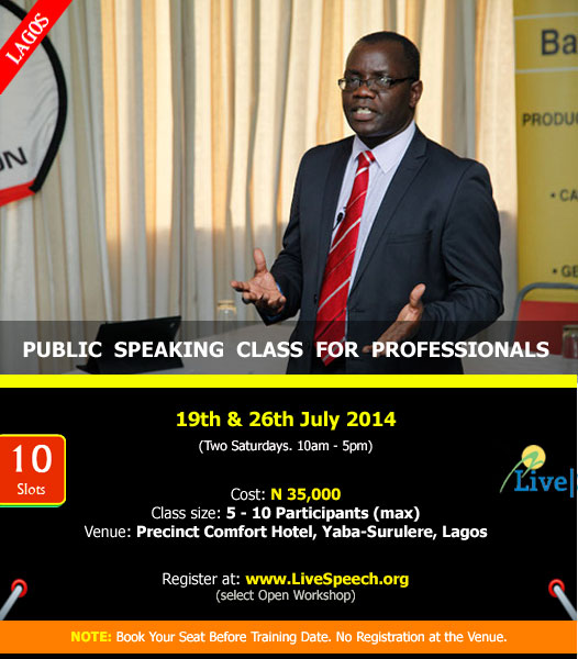 LiveSpeech Training - BellaNaija - July - 2014