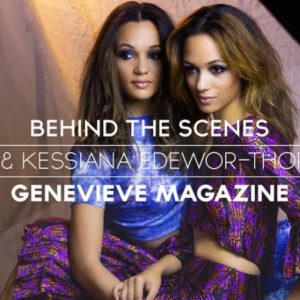 NdaniTV Behind the Scenes with Eku and Kessiana Edewor for Genevieve Magazine - Bellanaija - July2014
