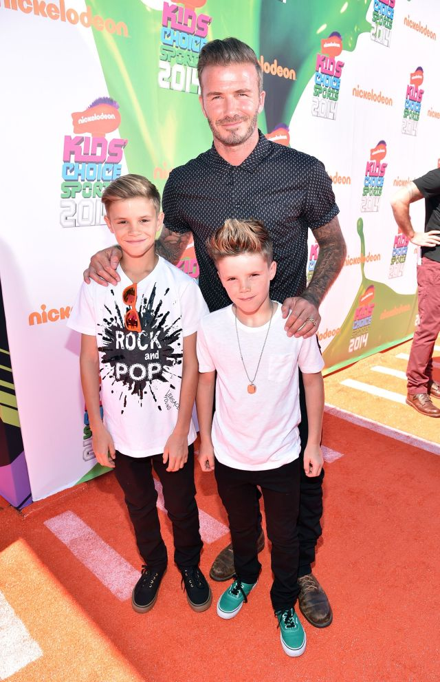 David Beckham, Romeo James Beckham, Cruz Beckham