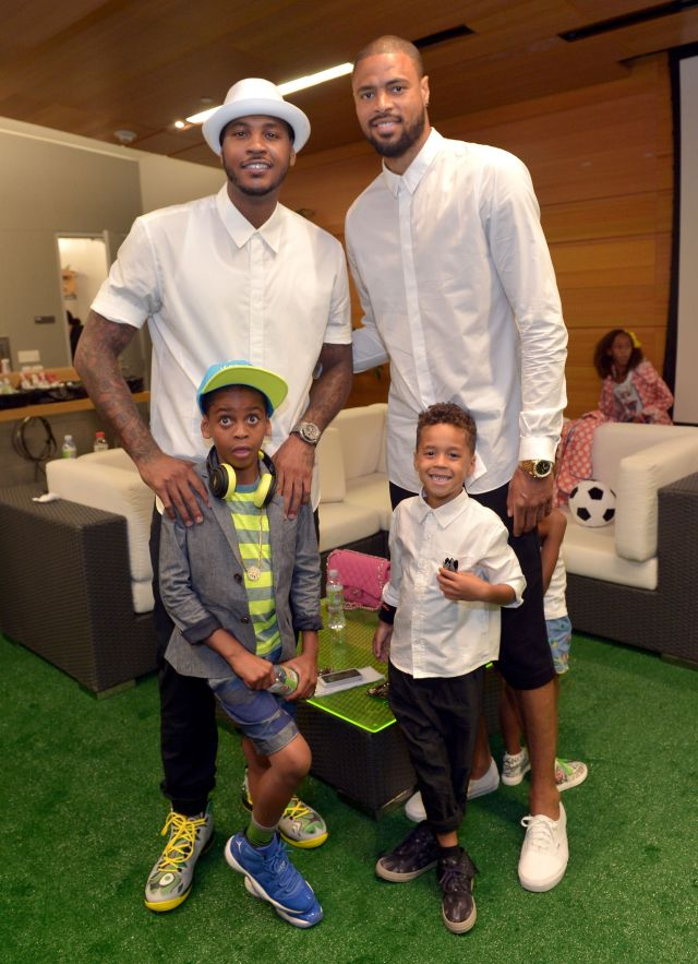 Carmelo Anthony, Tyson Chandler, Kiyan Anthony, Tyson Chandler J