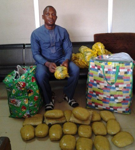 Nnewi Motorcycle Parts dealer with Cannabis