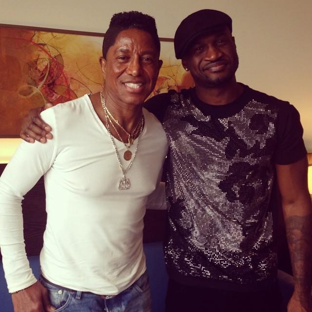 Peter Okoye & Jermaine Jackson - BN Music - July 2014 - BellaNaija.com 02
