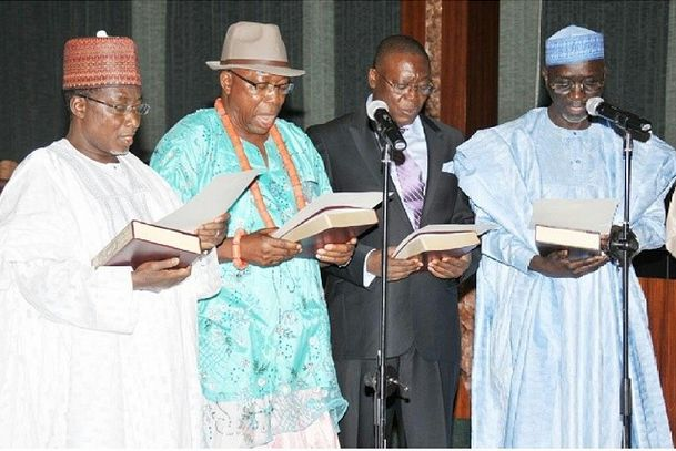 Pictures of new ministers sworn in by President Jonathan