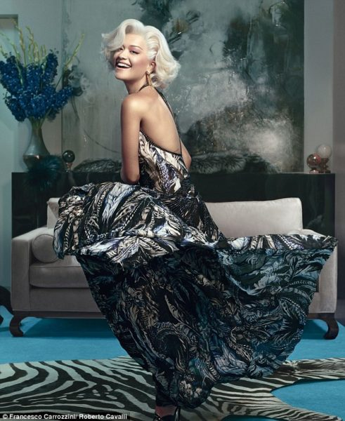 Rita Ora for Roberto Cavalli Fall Winter 2014 - Bellanaija - July2014003
