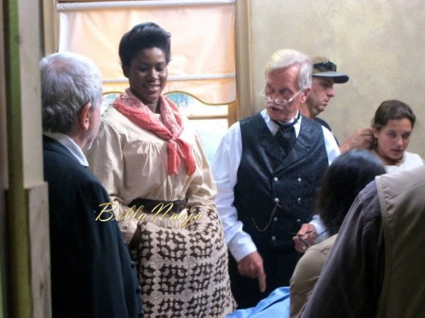Stephanie Linus on the Set on Boonville Redemption - July 2014 - BellaNaija.com 01010