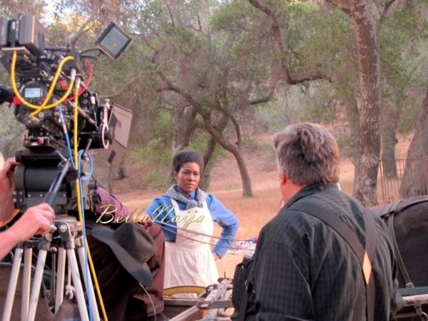 Stephanie Linus on the Set on Boonville Redemption - July 2014 - BellaNaija.com 01018