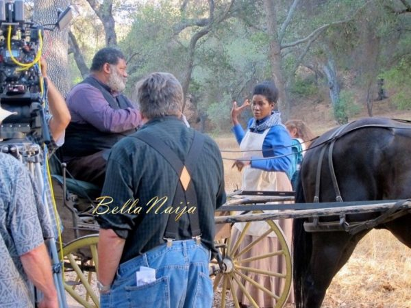 Stephanie Linus on the Set on Boonville Redemption - July 2014 - BellaNaija.com 01019