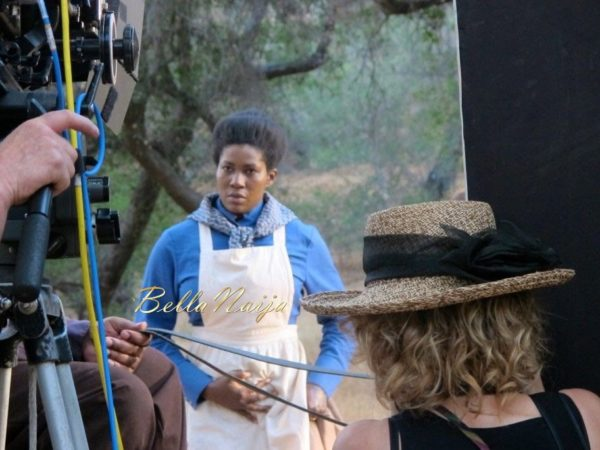Stephanie Linus on the Set on Boonville Redemption - July 2014 - BellaNaija.com 01020