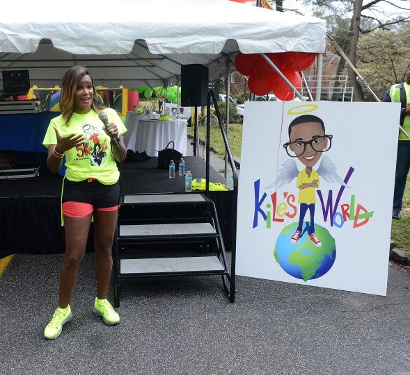 Tameka Raymond at a Kiles World Foundation event in March