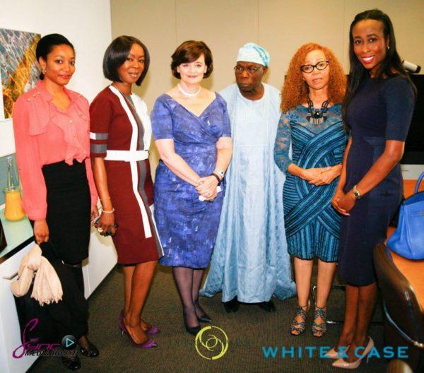 Toyin Saraki, Cherie Blair, Olusegun Obasanjo, Bridgette Radebe, Anne Walsh