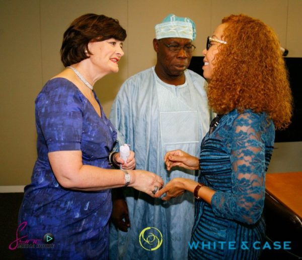 Cherie Blair, Olusegun Obasanjo, Bridgette Radebe