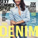 Zoe Saldana for Maire Claire Denim Issue - bellanaija - July2014