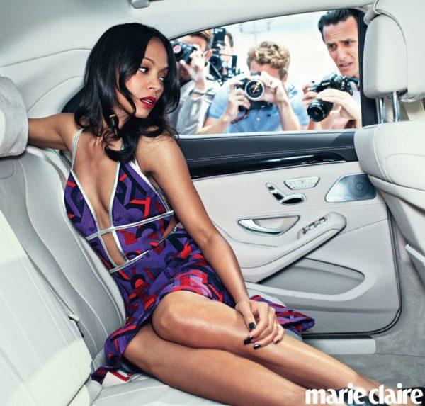 Zoe Saldana for Maire Claire Denim Issue - bellanaija - July2014001