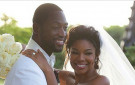 Gabrielle Union Dwayne Wade Wedding Pic BellaNaija