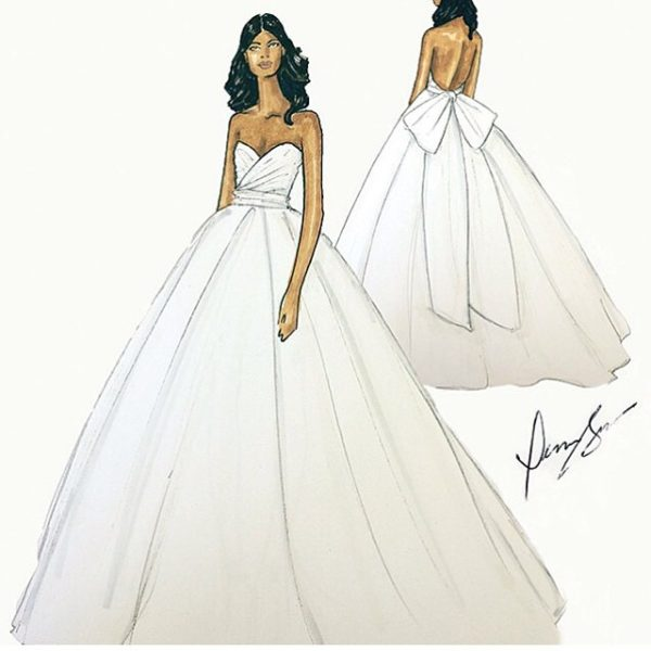 Gabrielle Union Wedding Dress Dennis Basso BellaNaija