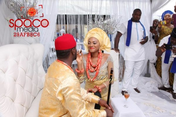 Jude Okoye and Ify Traditional Igbo Wedding in Anambra | SpacoMedia | BellaNaija 0048
