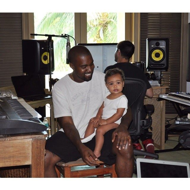 Kanye  amp North West - August North West August 2014