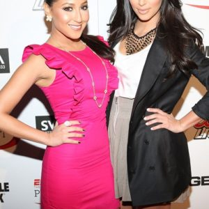 Kim K & Adrienne Bailon - August 2014 - BellaNaija.com