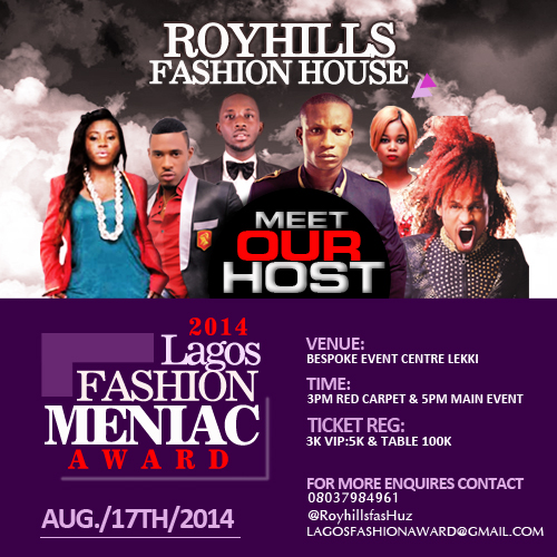 Lagos Fashion Meniac Award - Events This Weekend - August 2014 - BellaNaija.com 01