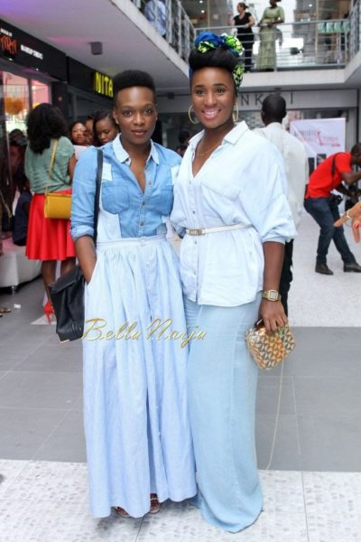 Orire Omatsola in Asos top, Re Bahia skirt & Bubu Ogisi in Mango