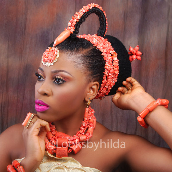 Looks by Hilda | Benin Edo Bridal Makeup | BellaNaija 001