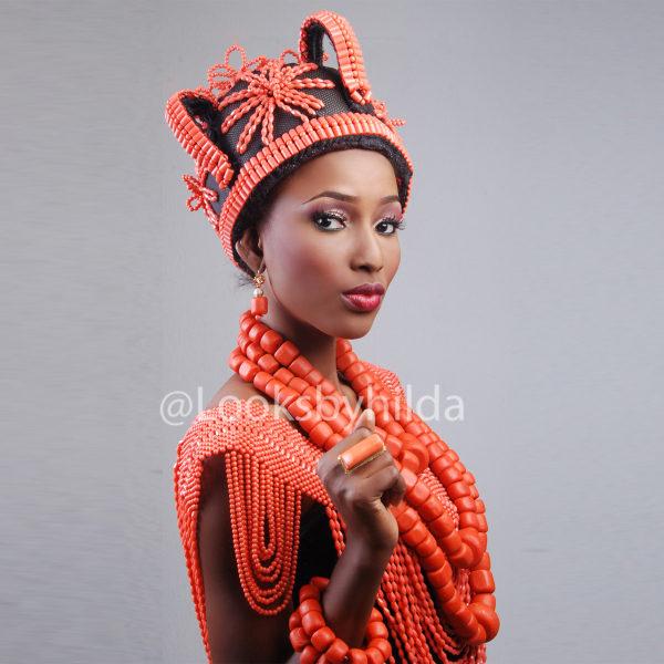 Looks by Hilda | Benin Edo Bridal Makeup | BellaNaija 002