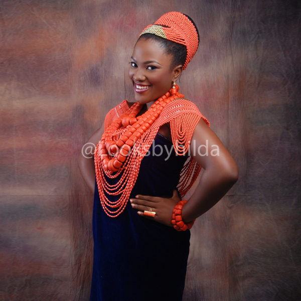 Looks by Hilda | Benin Edo Bridal Makeup | BellaNaija 003