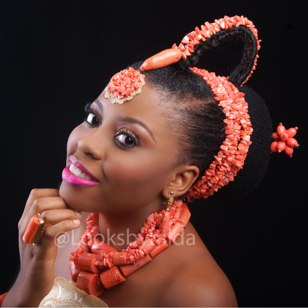 Looks by Hilda | Benin Edo Bridal Makeup | BellaNaija 004