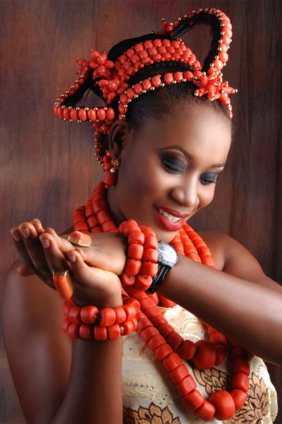 Looks by Hilda | Benin Edo Bridal Makeup | BellaNaija 005
