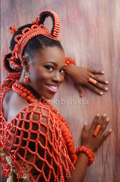 Looks by Hilda | Benin Edo Bridal Makeup | BellaNaija 006