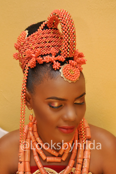 Looks by Hilda | Benin Edo Bridal Makeup | BellaNaija 007