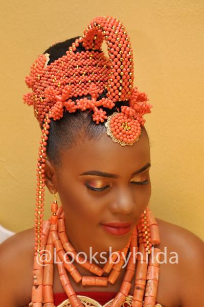 Looks by Hilda | Benin Edo Bridal Makeup | BellaNaija 007