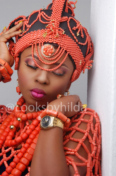 Looks by Hilda | Benin Edo Bridal Makeup | BellaNaija 010