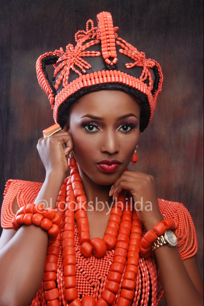 Looks by Hilda | Benin Edo Bridal Makeup | BellaNaija 011