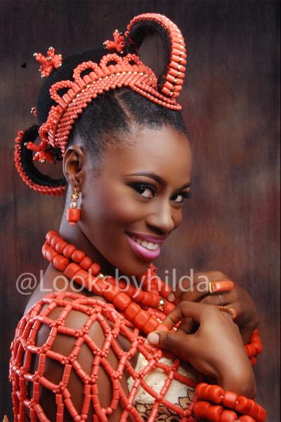 Looks by Hilda | Benin Edo Bridal Makeup | BellaNaija 012