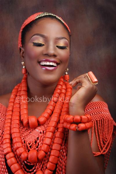 Looks by Hilda | Benin Edo Bridal Makeup | BellaNaija 014