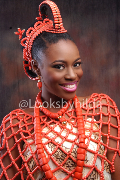 Looks by Hilda | Benin Edo Bridal Makeup | BellaNaija 016