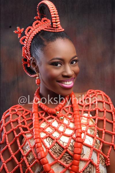 Looks by Hilda | Benin Edo Bridal Makeup | BellaNaija 016