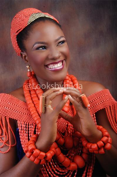 Looks by Hilda | Benin Edo Bridal Makeup | BellaNaija 020