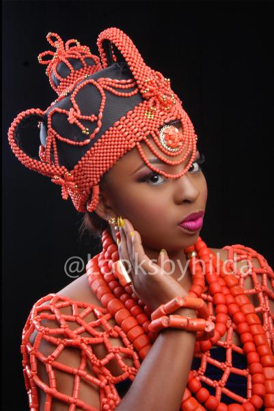Looks by Hilda | Benin Edo Bridal Makeup | BellaNaija 021
