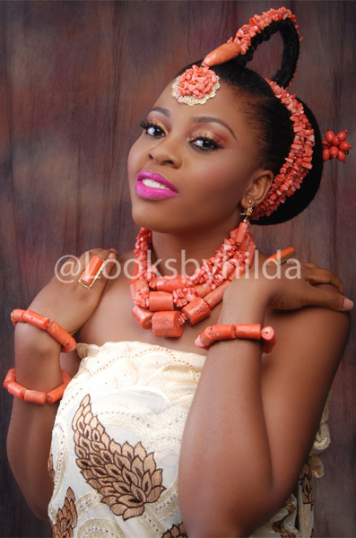 Looks by Hilda | Benin Edo Bridal Makeup | BellaNaija 023