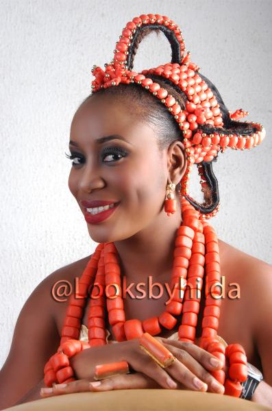 Looks by Hilda | Benin Edo Bridal Makeup | BellaNaija 024