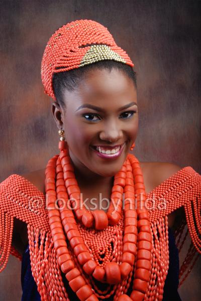Looks by Hilda | Benin Edo Bridal Makeup | BellaNaija 025
