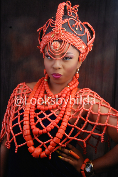 Looks by Hilda | Benin Edo Bridal Makeup | BellaNaija 026