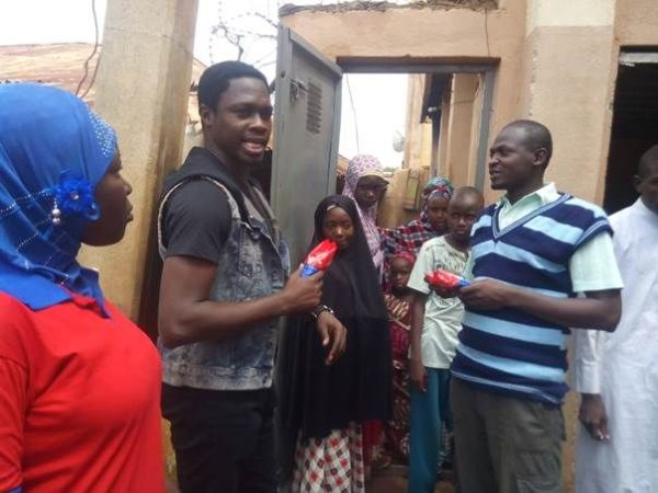 Ali Nuhu storming a neighbourhood in Sokoto State