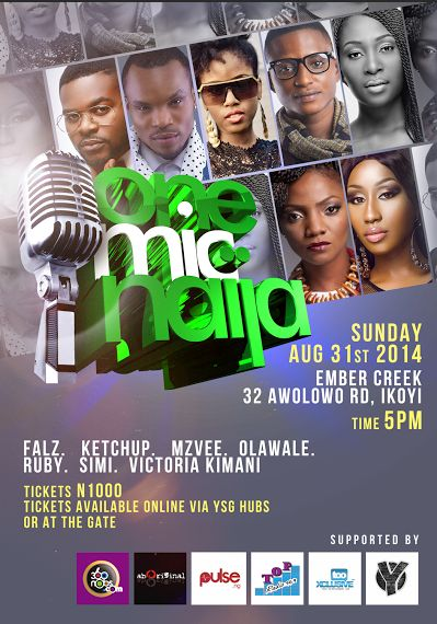 One Mic Naija - Events This Weekend- August 2014 - BellaNaija.com 01