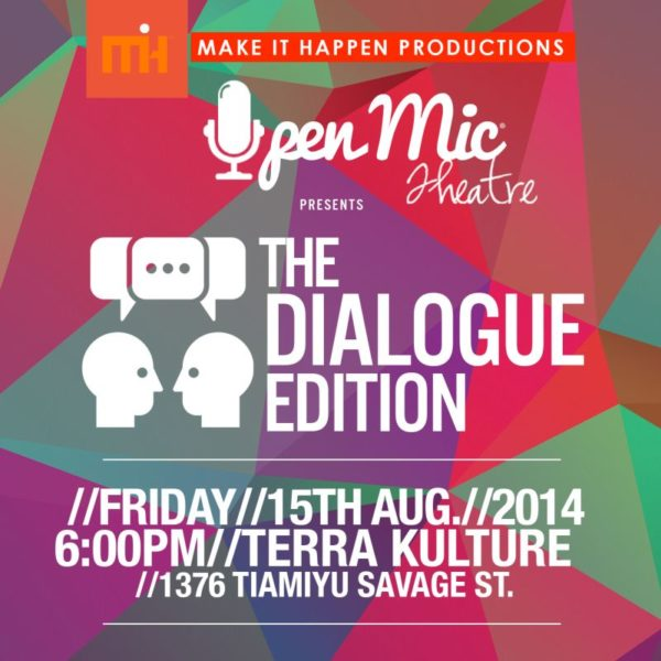 Open Mic Theatre - August 2014 - Events Thsi Weekend  - BellaNaija.com 01
