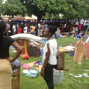 PIC. 2. FIRE GUTS BENUE STATE UNIVERSITY FEMALE HOSTEL IN MAKURDI