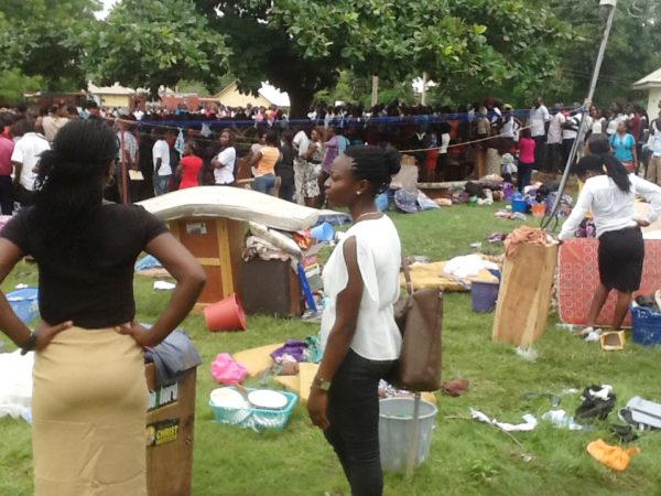 PIC. 2. FIRE GUTS BENUE STATE UNIVERSITY FEMALE HOSTEL IN MAKURDI